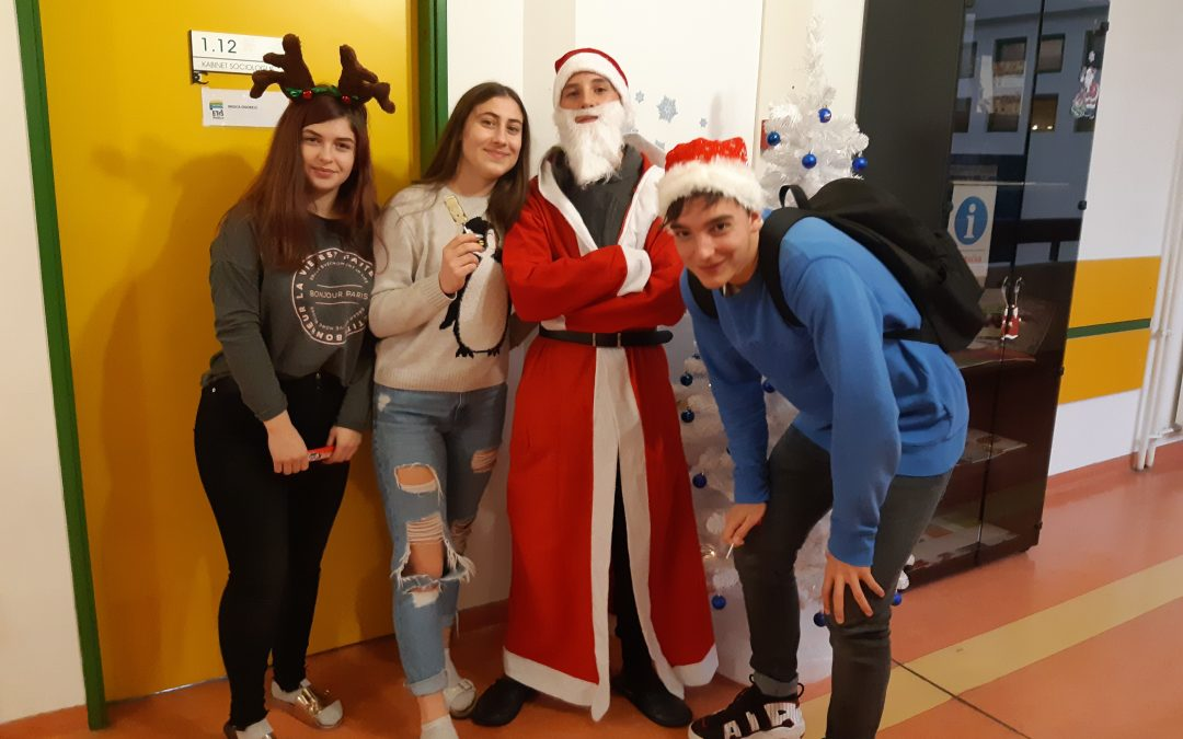 Božiček obiskal evropski kotiček na ETrŠ Brežice